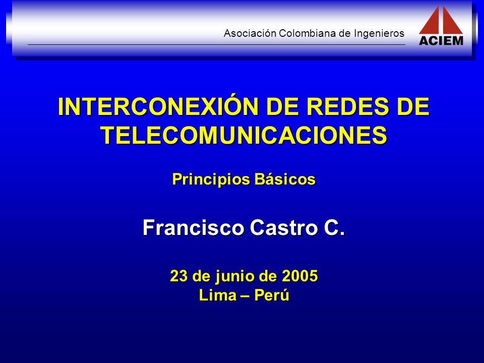 INTERCONEXIÓN DE REDES DE TELECOMUNICACIONES