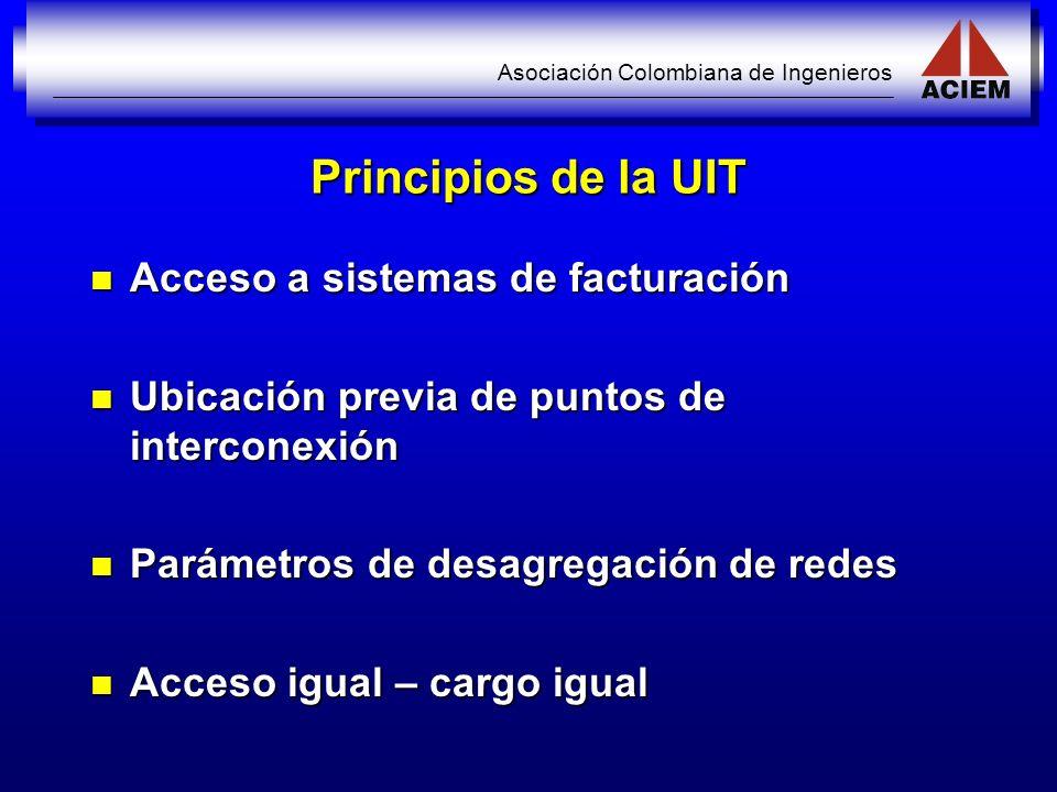 Principios de la UIT Acceso a sistemas de facturación
