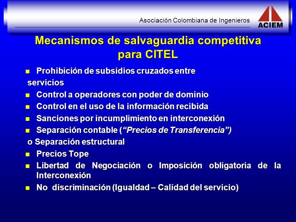 Mecanismos de salvaguardia competitiva para CITEL