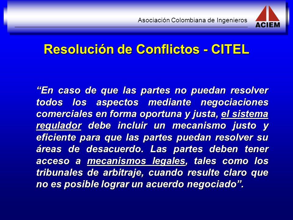Resolución de Conflictos - CITEL