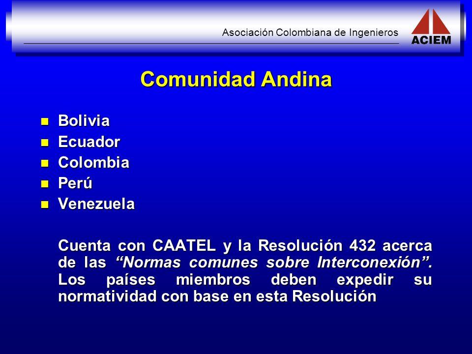 Comunidad Andina Bolivia Ecuador Colombia Perú Venezuela