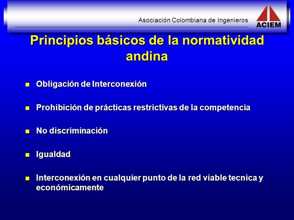 Principios básicos de la normatividad andina