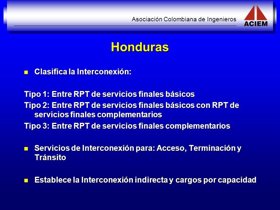 Honduras Clasifica la Interconexión: