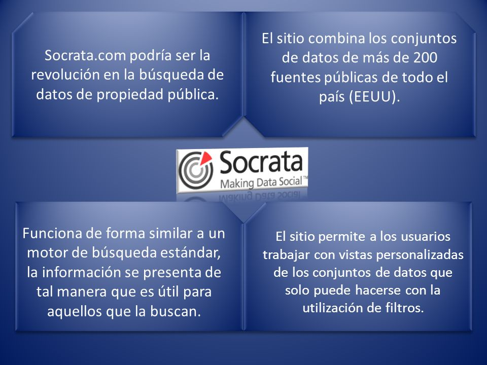 Socrata.com podría ser la revolución en la búsqueda de datos de propiedad pública.