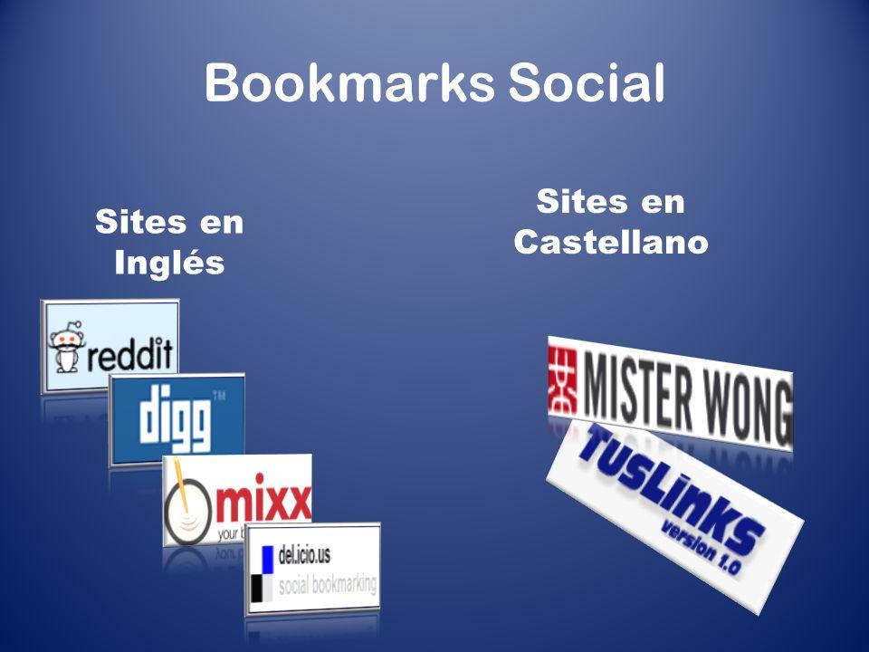 Bookmarks Social Sites en Castellano Sites en Inglés