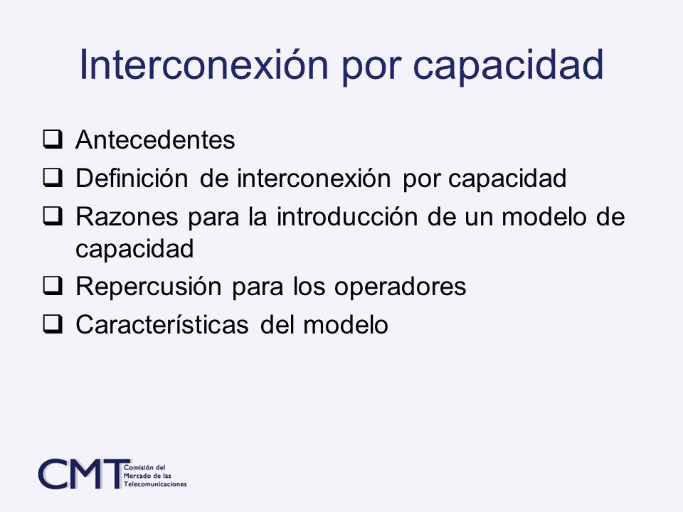 Interconexión por capacidad