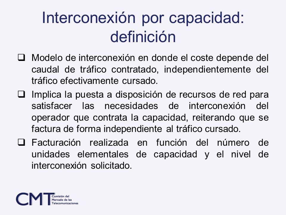 Interconexión por capacidad: definición