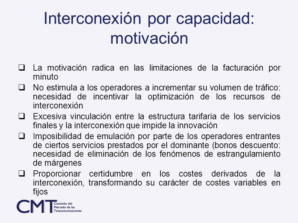 Interconexión por capacidad: motivación