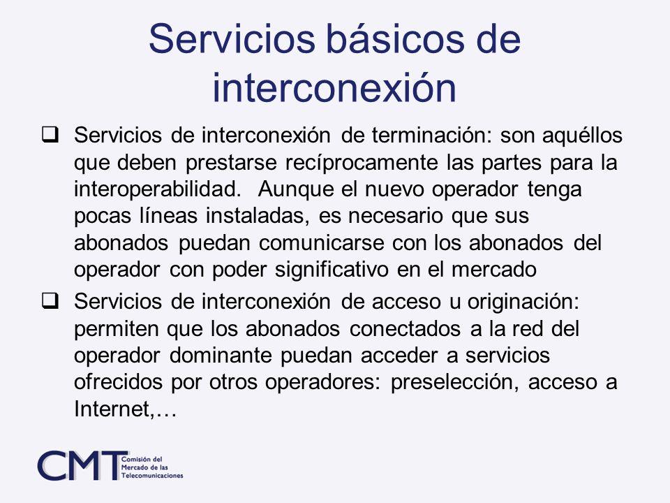 Servicios básicos de interconexión