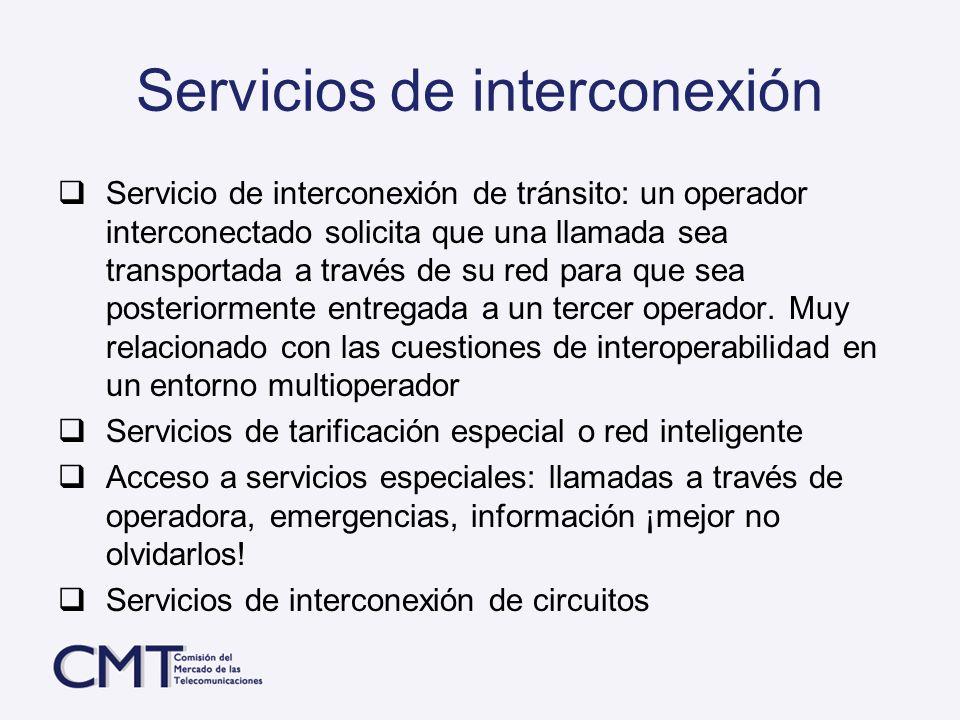 Servicios de interconexión
