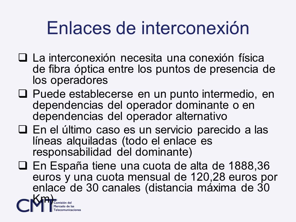 Enlaces de interconexión