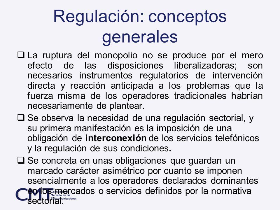 Regulación: conceptos generales