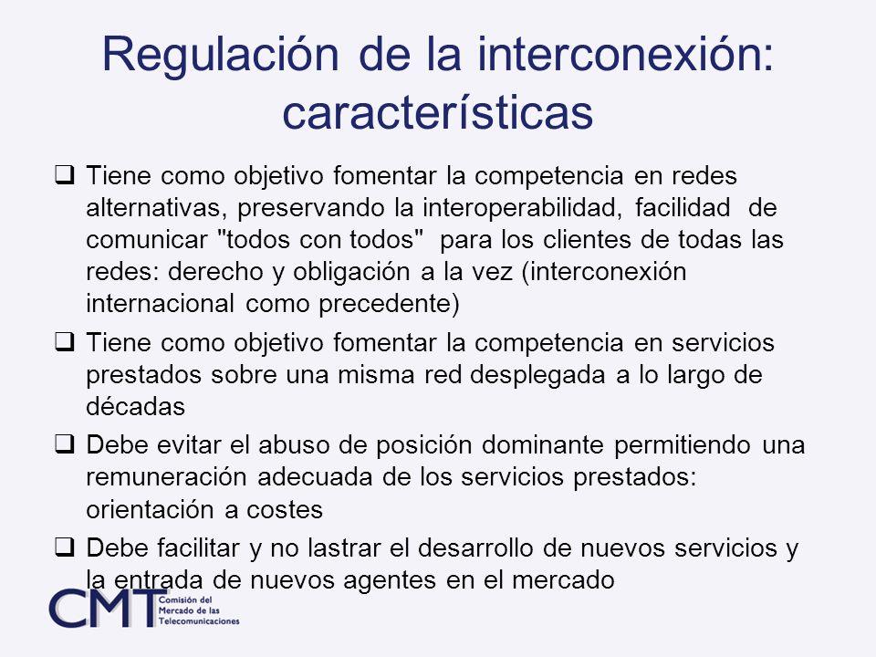 Regulación de la interconexión: características