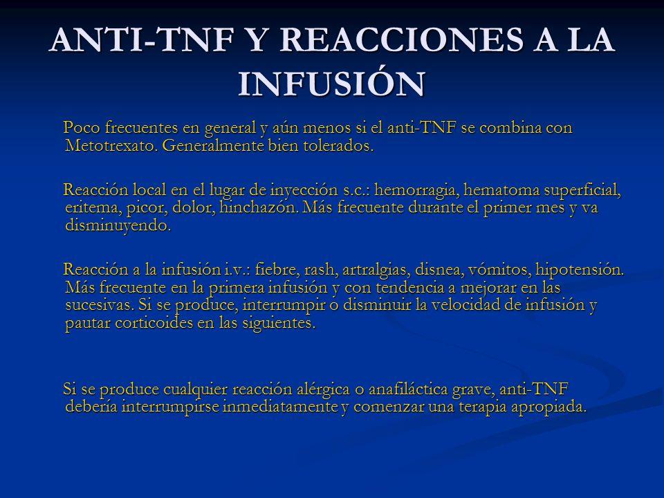 ANTI-TNF Y REACCIONES A LA INFUSIÓN