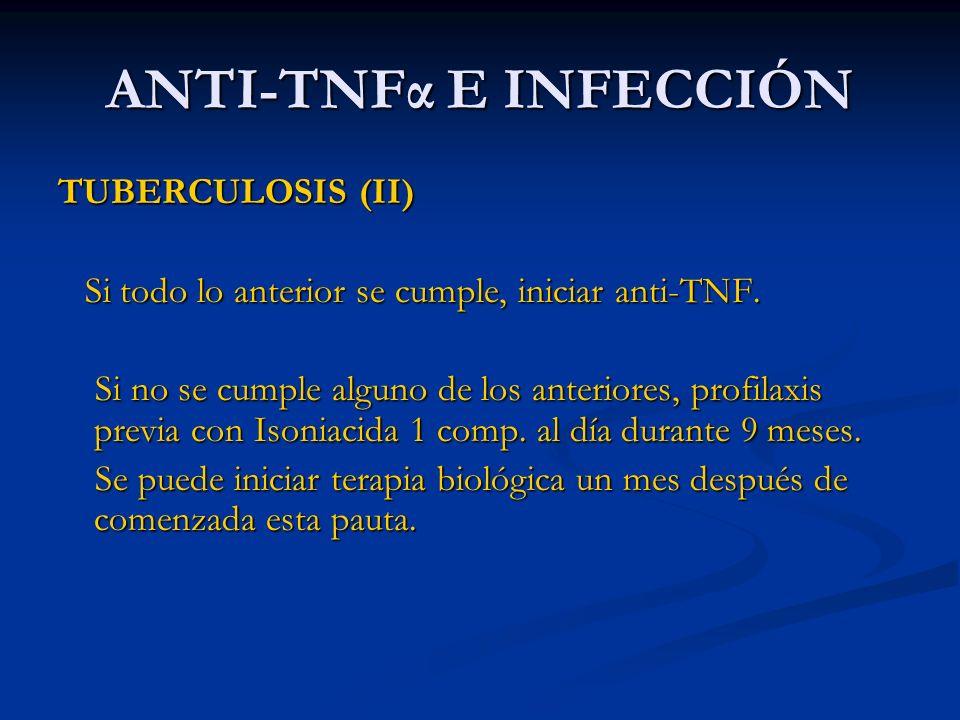 ANTI-TNFα E INFECCIÓN TUBERCULOSIS (II)