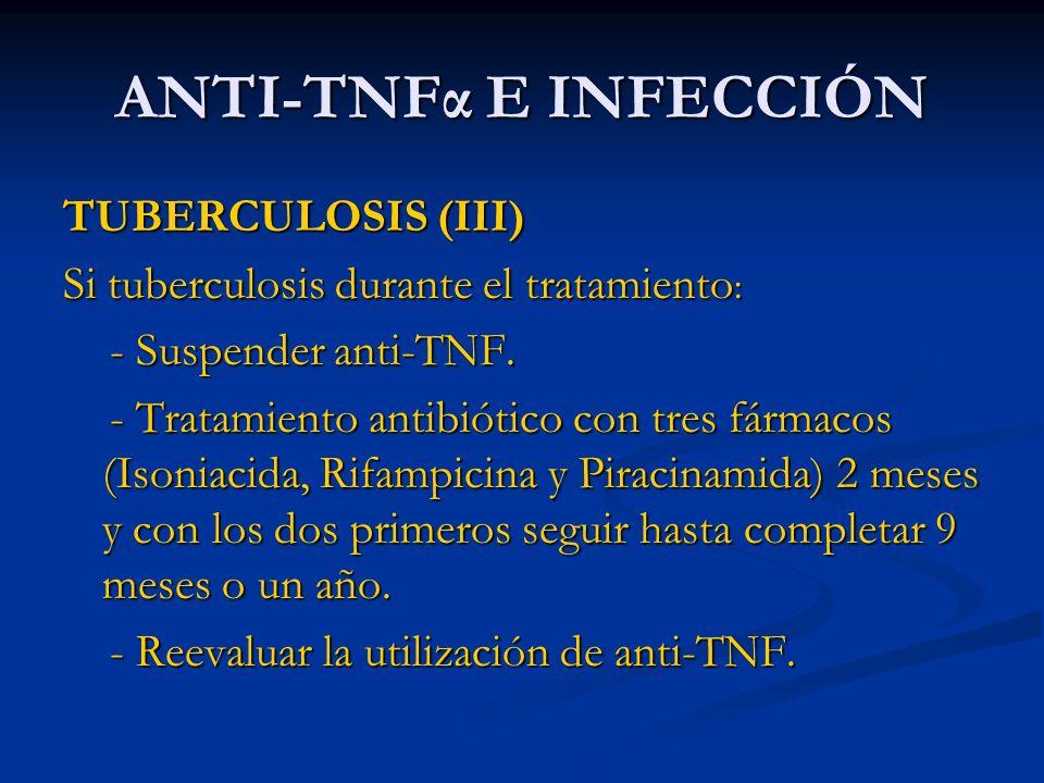 ANTI-TNFα E INFECCIÓN TUBERCULOSIS (III)