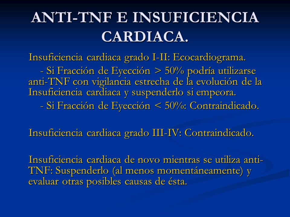 ANTI-TNF E INSUFICIENCIA CARDIACA.