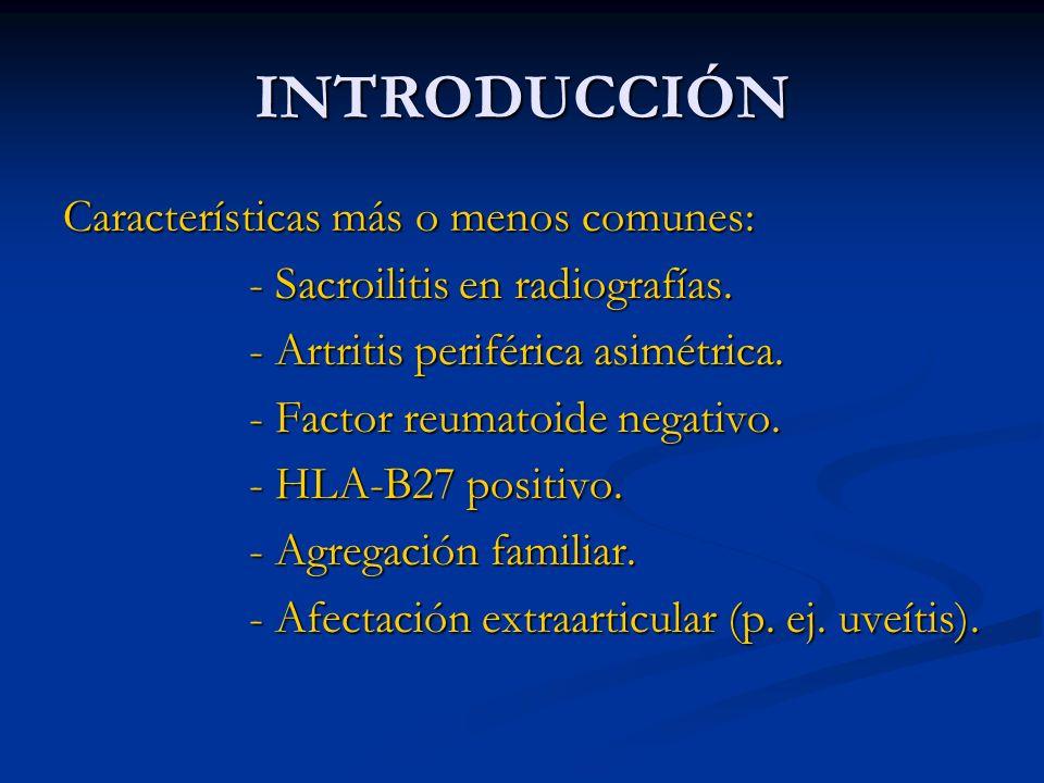 INTRODUCCIÓN Características más o menos comunes: