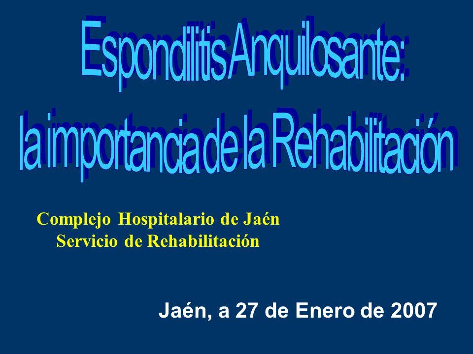 Complejo Hospitalario de Jaén Servicio de Rehabilitación