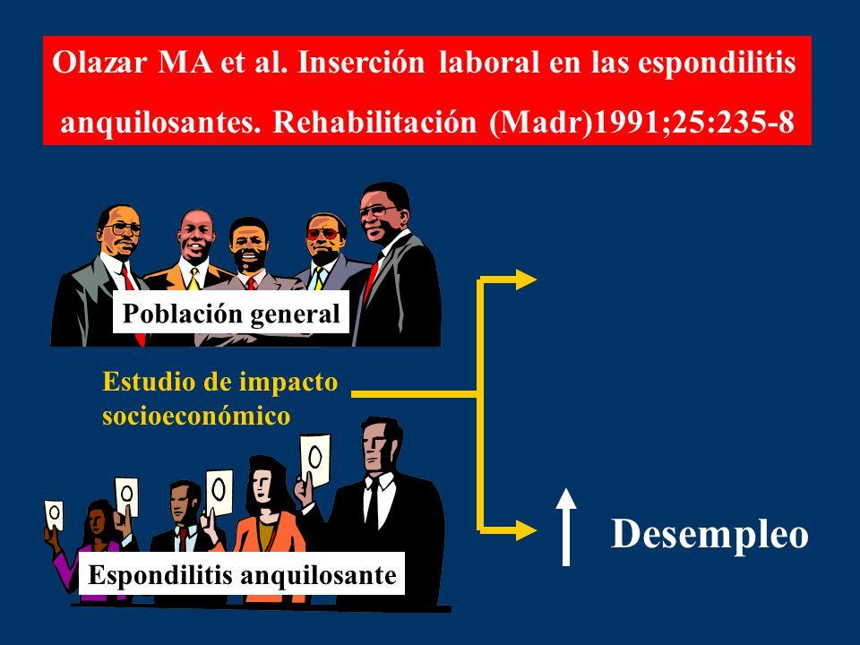 Desempleo Olazar MA et al. Inserción laboral en las espondilitis