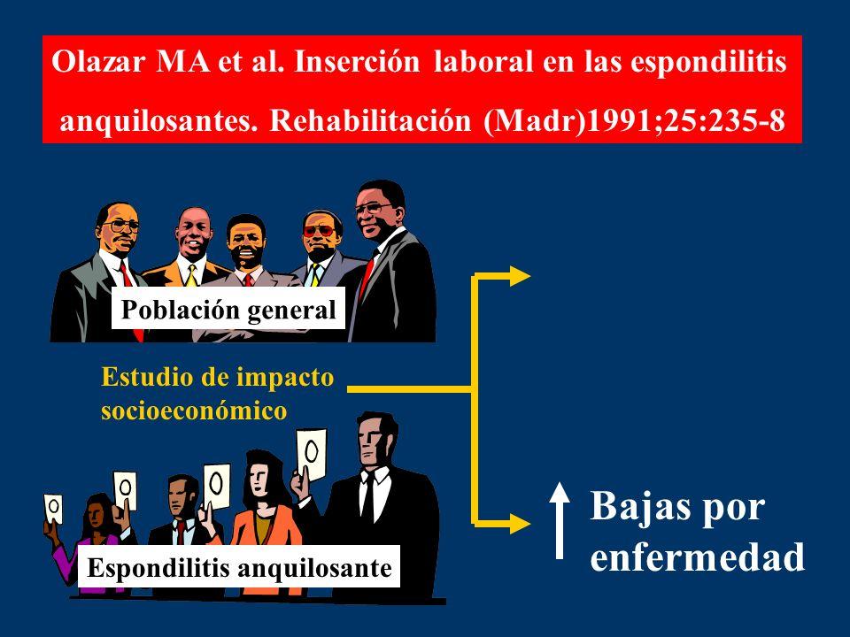 Olazar MA et al. Inserción laboral en las espondilitis