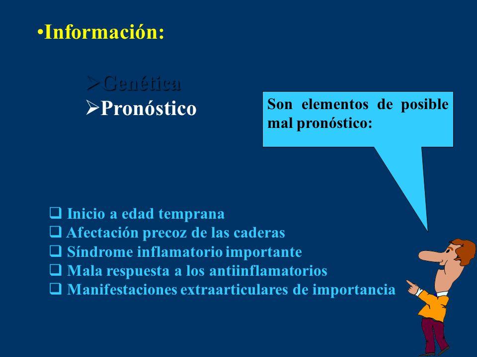 Información: Genética Pronóstico
