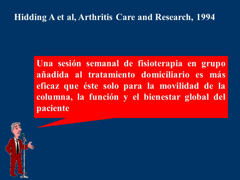 Hidding A et al, Arthritis Care and Research, 1994