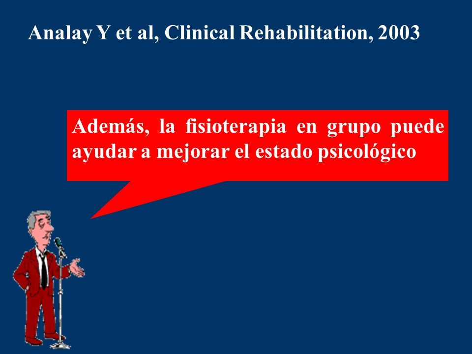 Analay Y et al, Clinical Rehabilitation, 2003