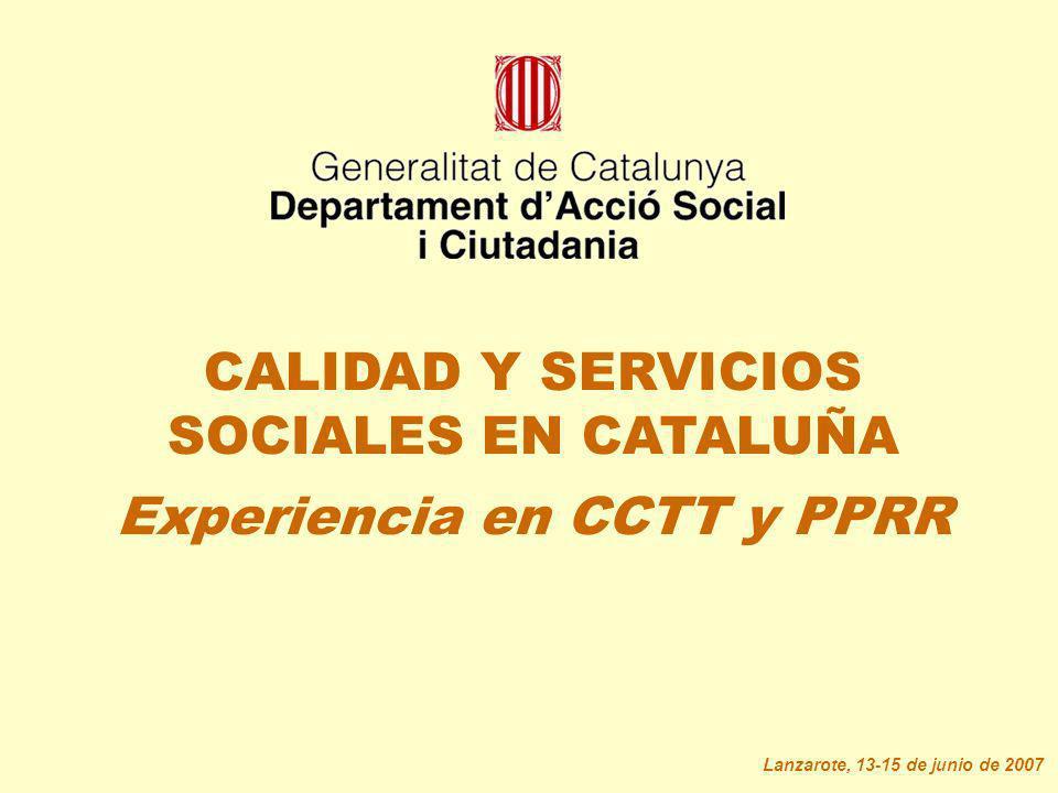 CALIDAD Y SERVICIOS SOCIALES EN CATALUÑA