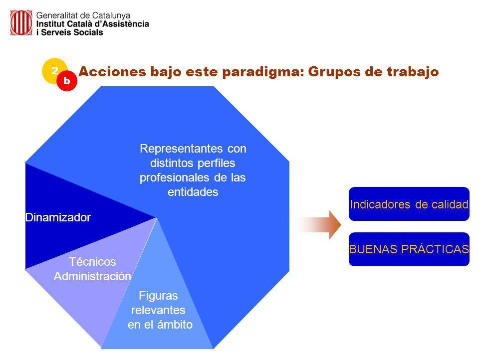 Acciones bajo este paradigma: Grupos de trabajo