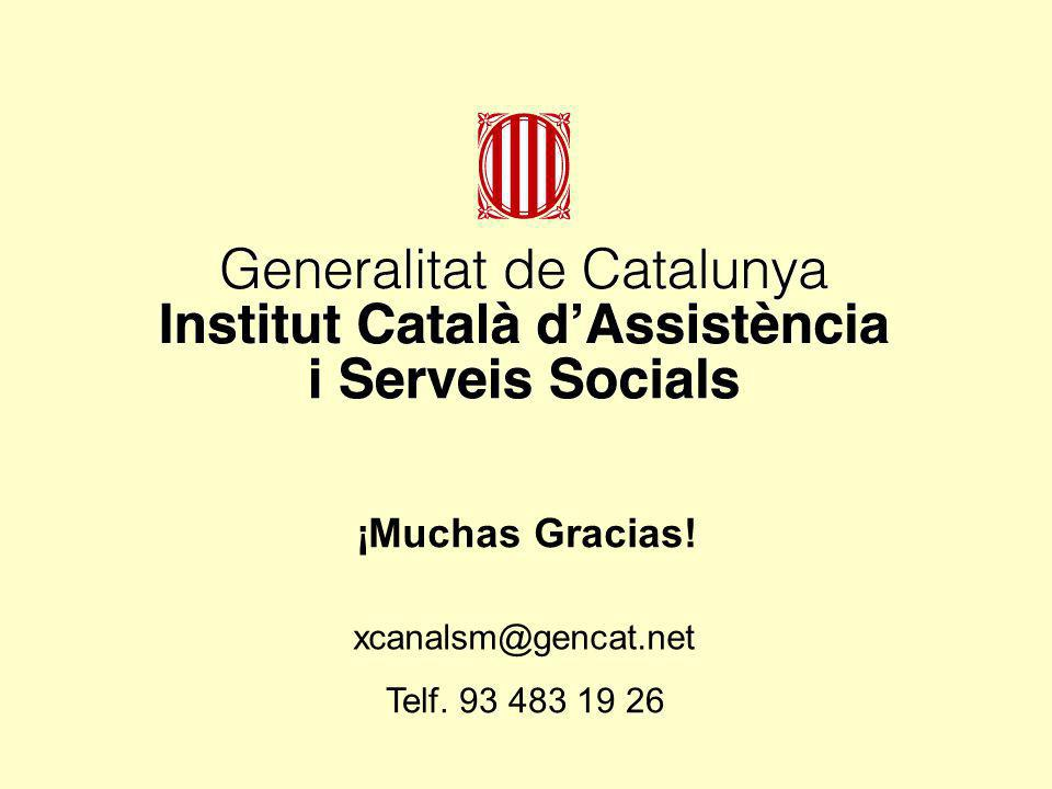 ¡Muchas Gracias! xcanalsm@gencat.net Telf. 93 483 19 26