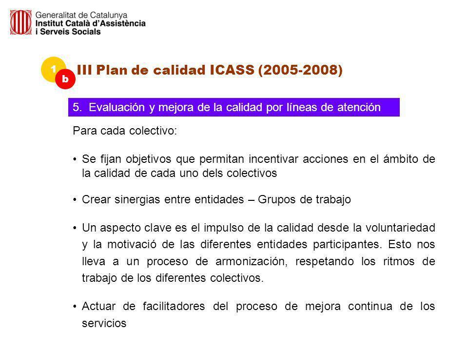III Plan de calidad ICASS (2005-2008)