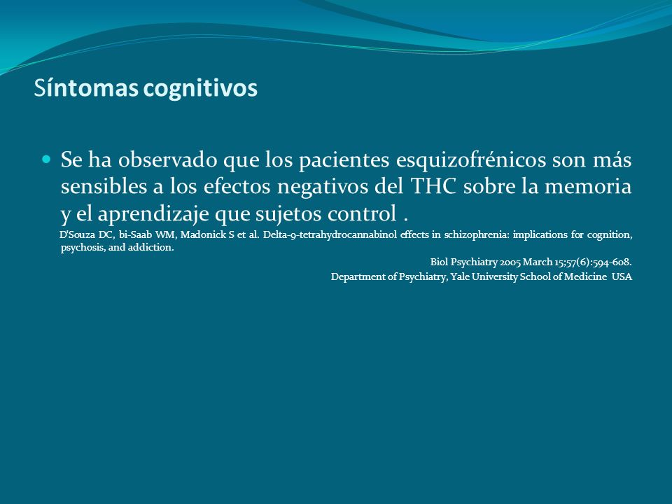 Síntomas cognitivos