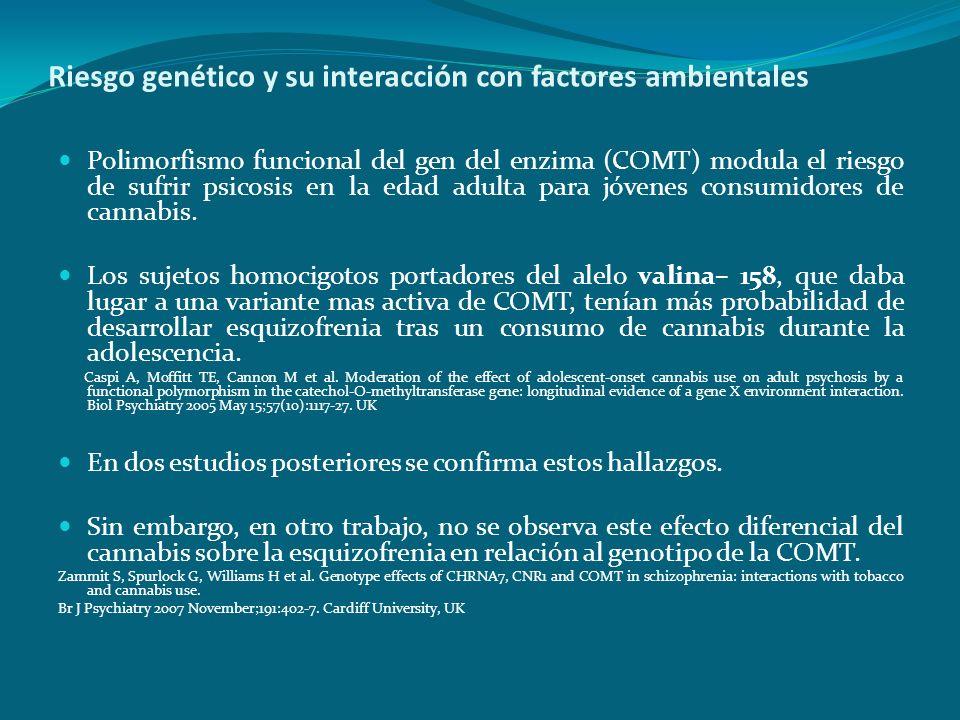 Riesgo genético y su interacción con factores ambientales