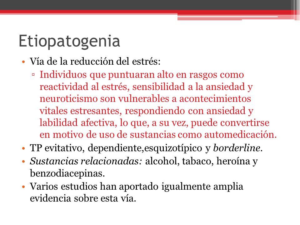 Etiopatogenia Vía de la reducción del estrés: