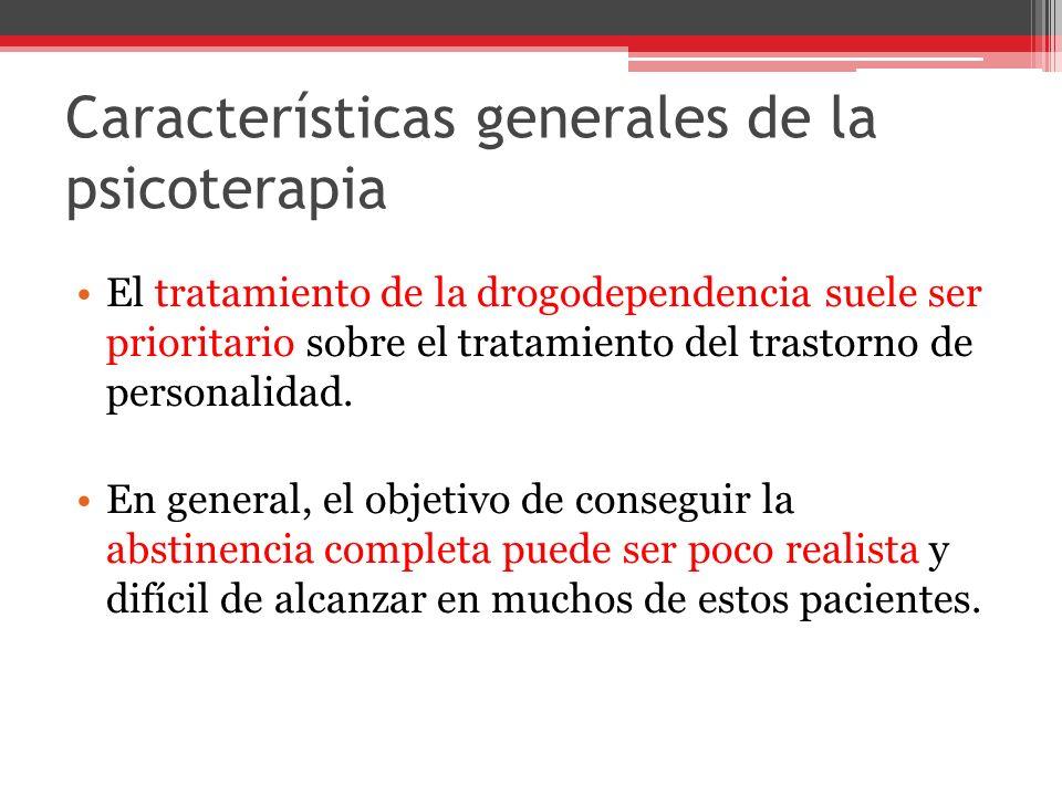 Características generales de la psicoterapia