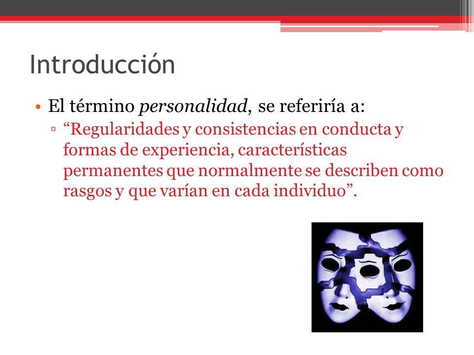 Introducción El término personalidad, se referiría a: