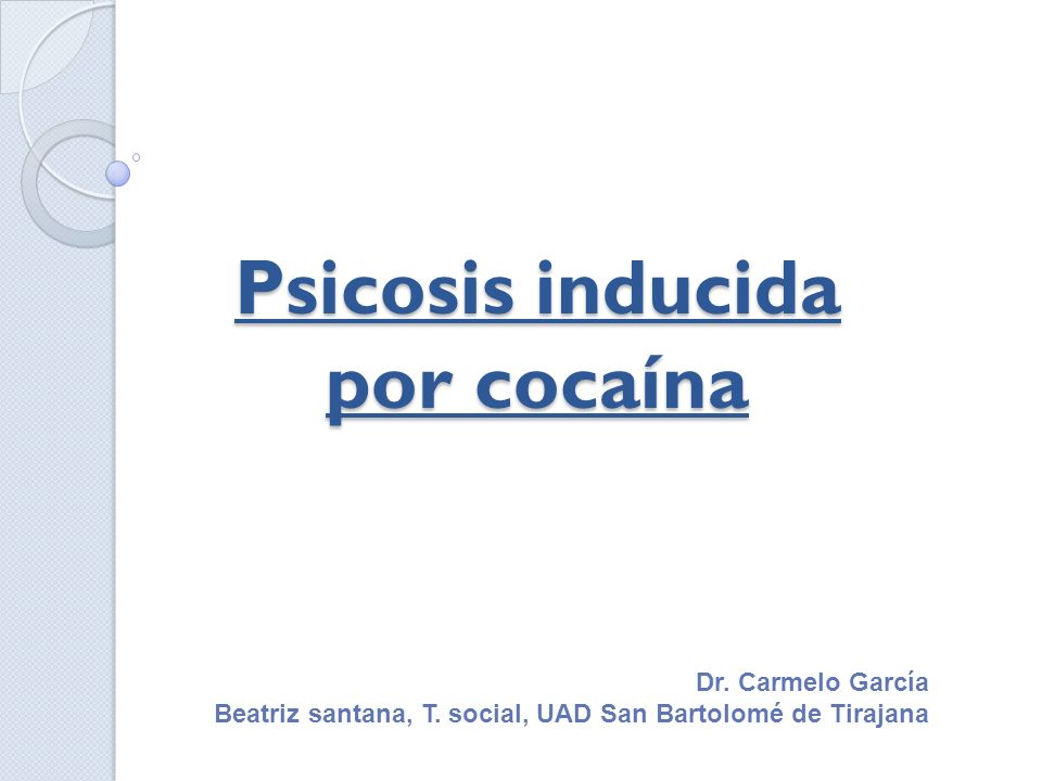 Psicosis inducida por cocaína