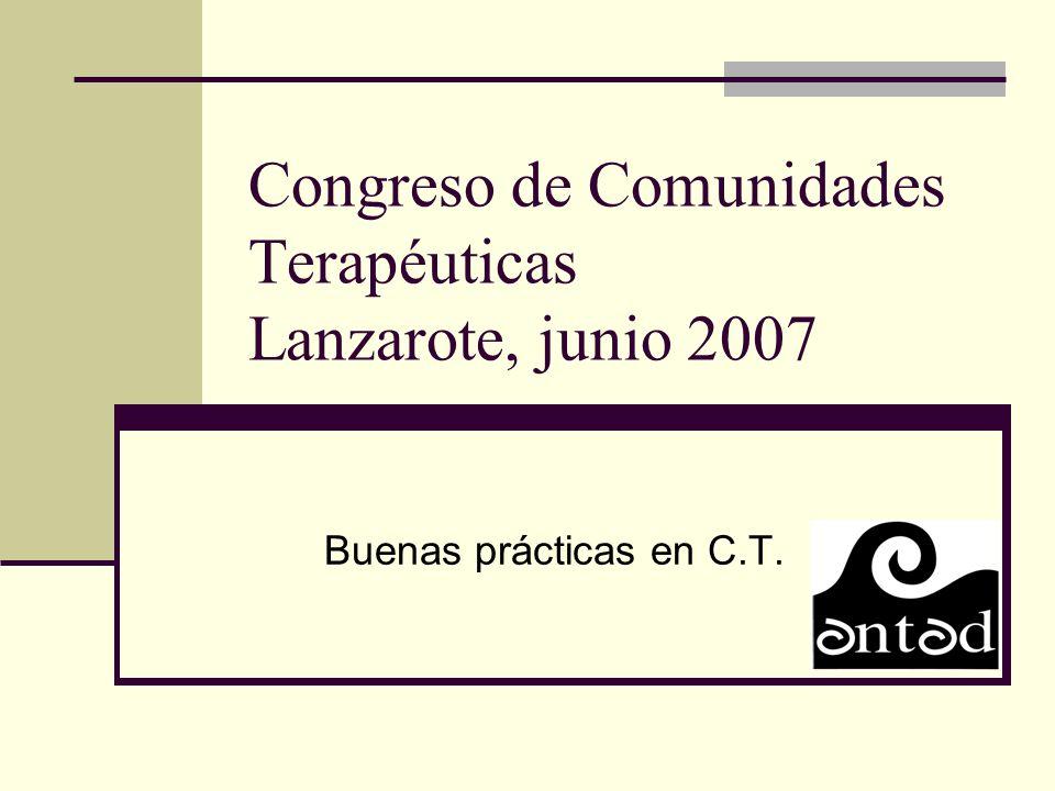 Congreso de Comunidades Terapéuticas Lanzarote, junio 2007