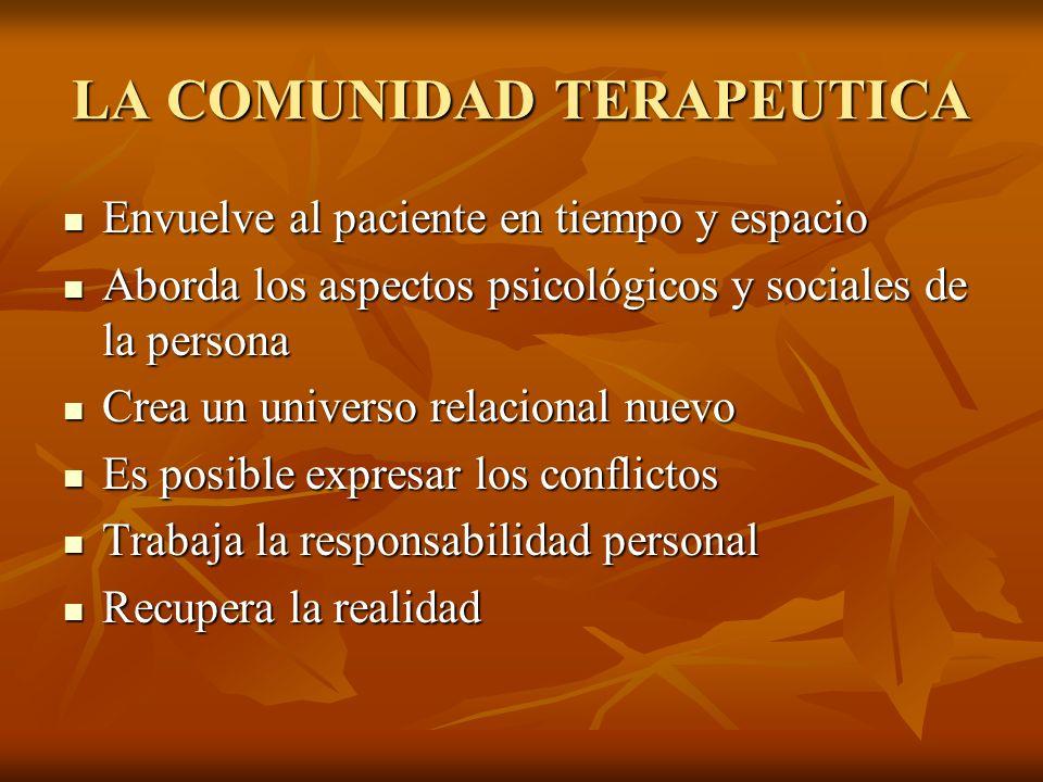 LA COMUNIDAD TERAPEUTICA