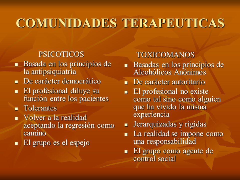 COMUNIDADES TERAPEUTICAS