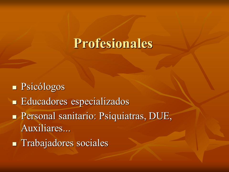 Profesionales Psicólogos Educadores especializados