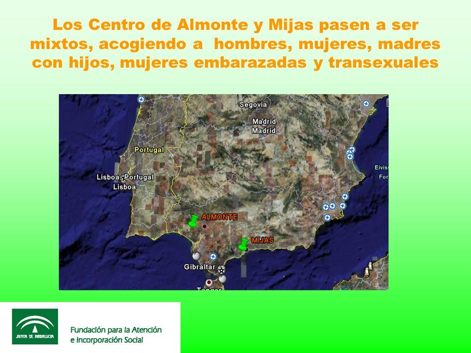Los Centro de Almonte y Mijas pasen a ser mixtos, acogiendo a hombres, mujeres, madres con hijos, mujeres embarazadas y transexuales