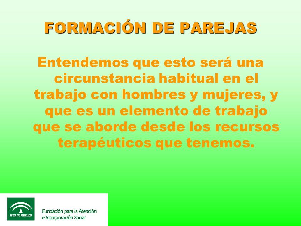 FORMACIÓN DE PAREJAS