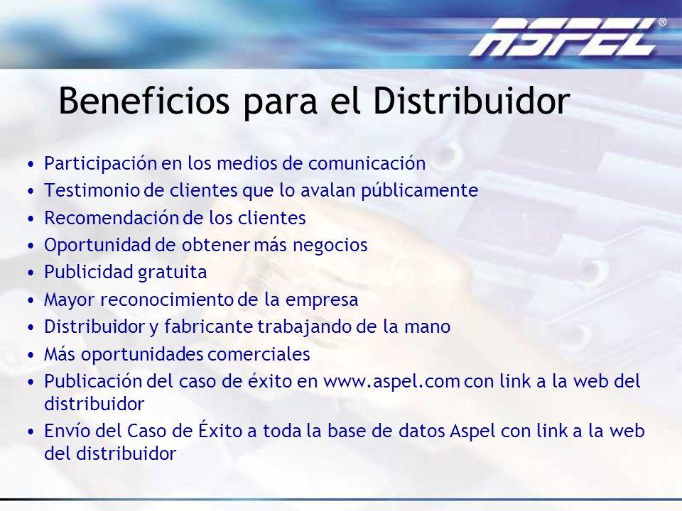 Beneficios para el Distribuidor