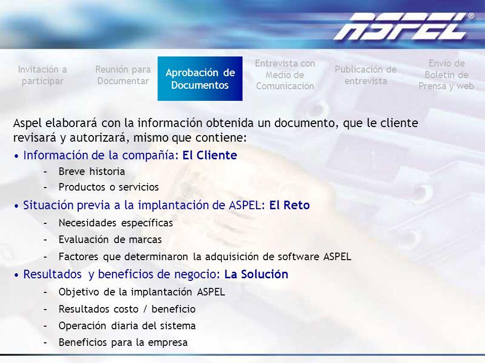 Información de la compañía: El Cliente