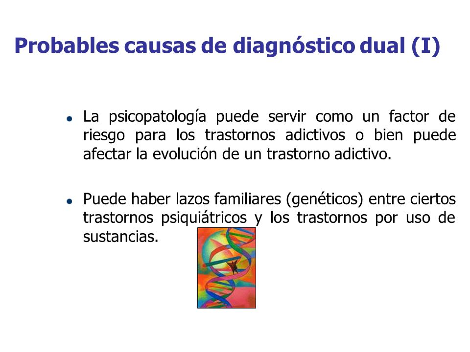 Probables causas de diagnóstico dual (I)
