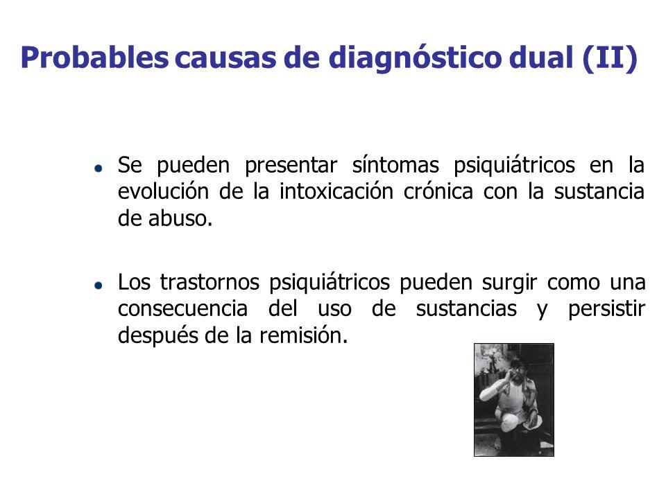 Probables causas de diagnóstico dual (II)