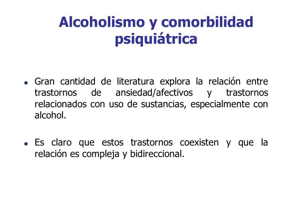 Alcoholismo y comorbilidad psiquiátrica