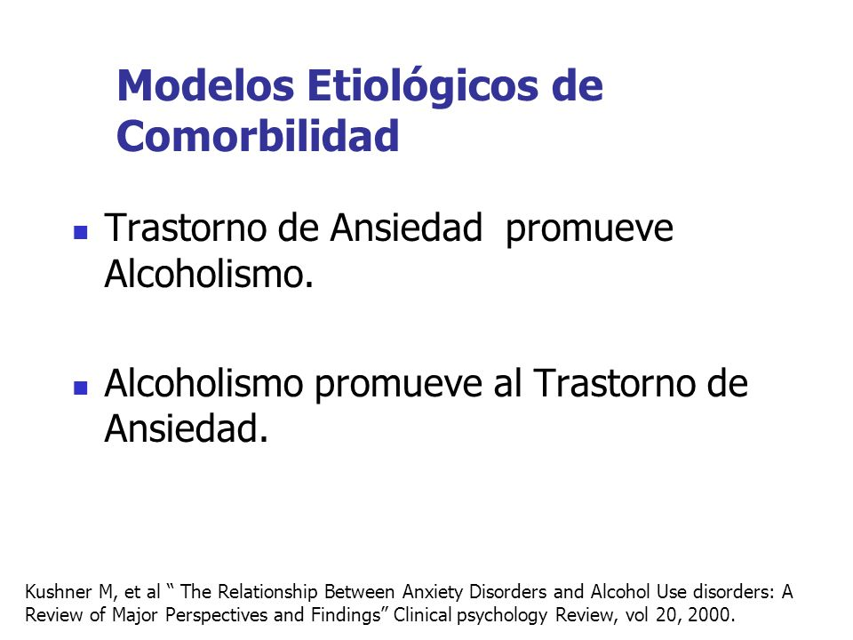 Modelos Etiológicos de Comorbilidad